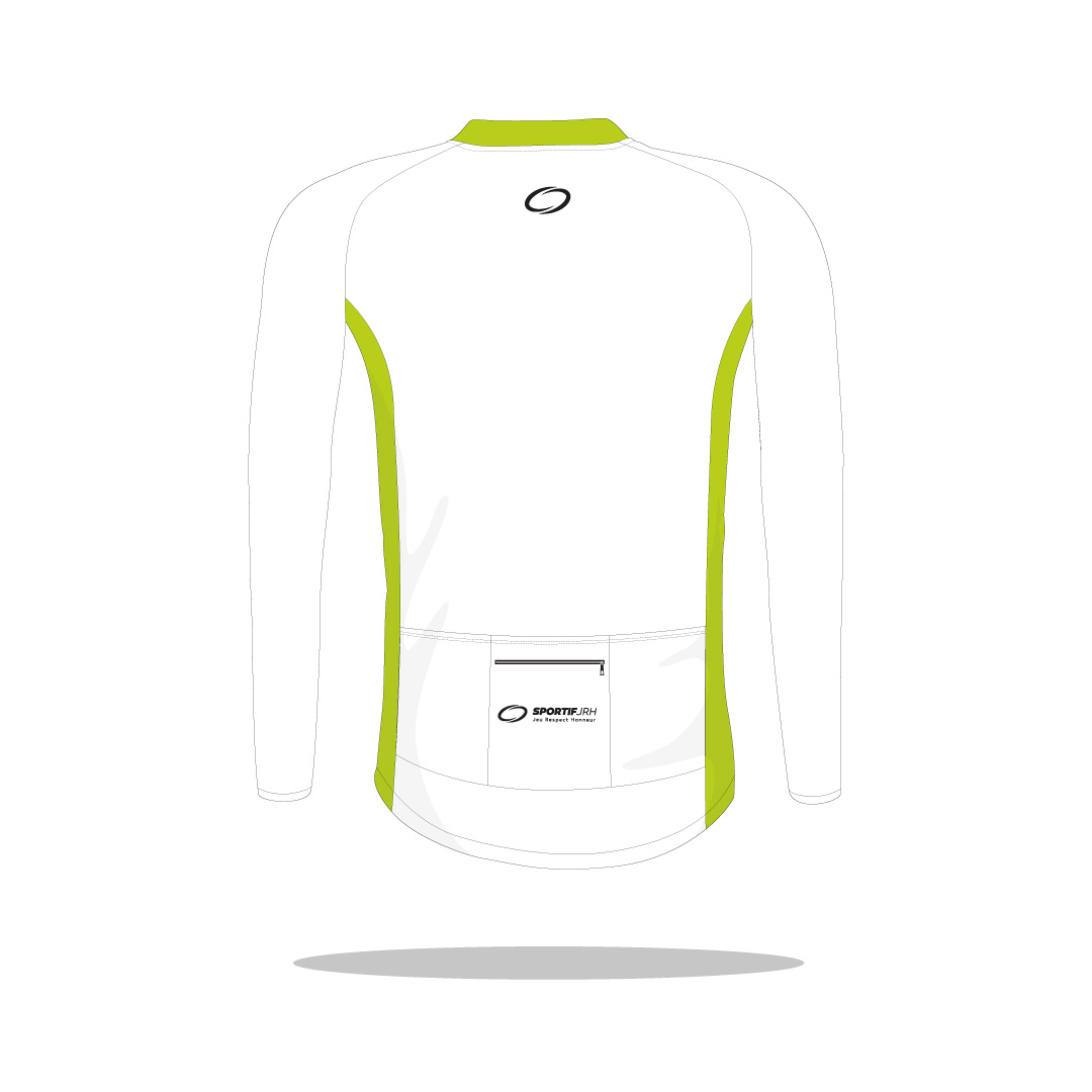 Maillot cyclisme Vercors manches longues dos