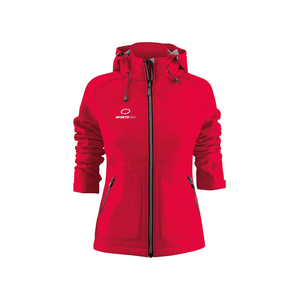 veste karting femme rouge