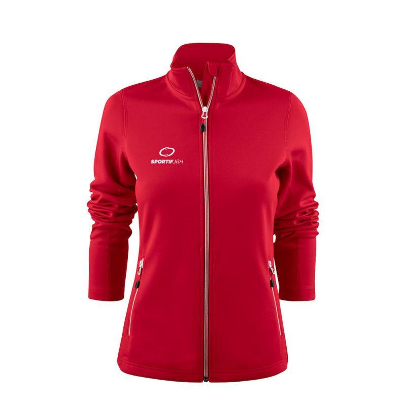 veste powerslide femme rouge
